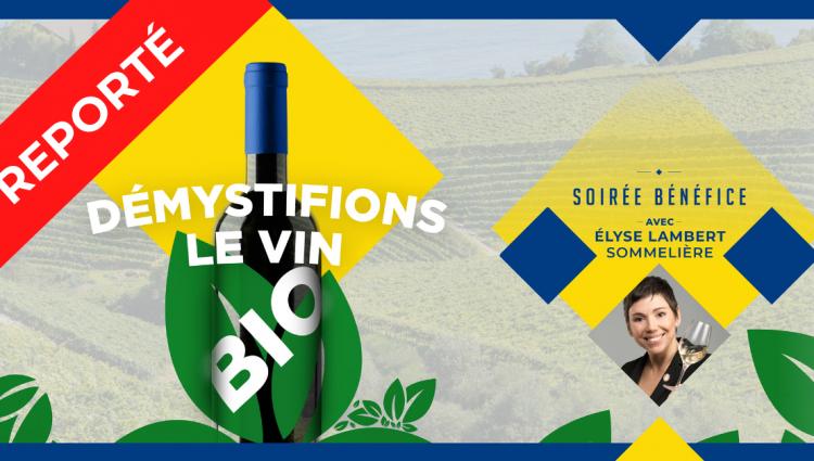 Dégustation de mets et vins - Démystifiez le vin Bio!